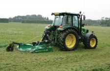 Rotary grass cutter, MultiCut 160, is mowing the lawn