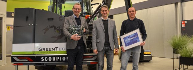GreenTec receives Danish Industry's initiative award in the Triangle Region