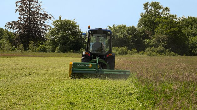 Rear flail mower for small tractor