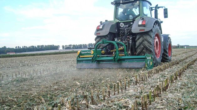 Stubble management with heavy duty flail mower