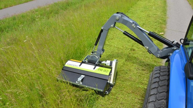 Mower attachment for tractors, skid steers and excavators