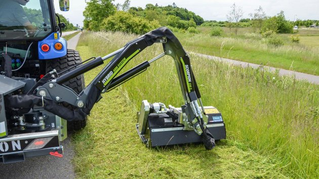 Landscape maintenance performed with GreenTec flail mower