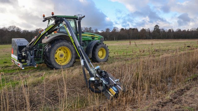 Ditch mower attachment for tractor
