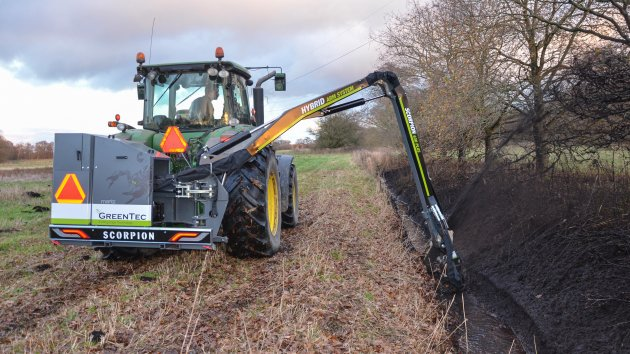 Ditching attachment for tractor