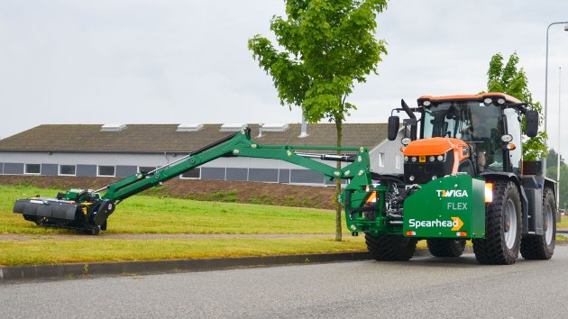 Reach mower shows its long range