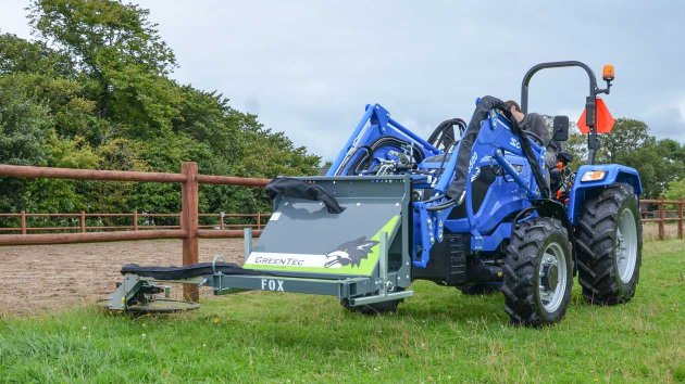 Mow around fence posts with GreenTec machines