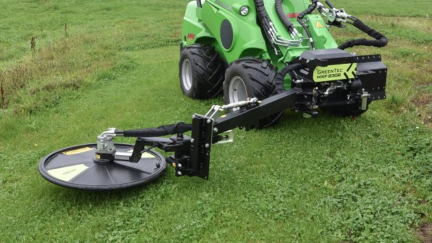 Barrier mower attached to HXF 2302