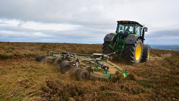 Rotary mower for tractor