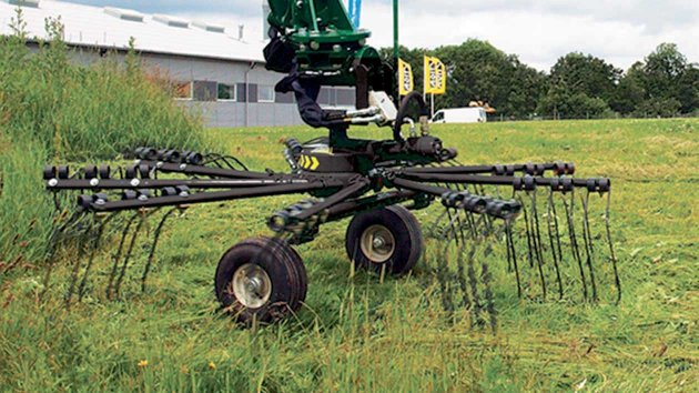 Grass rake for tractor