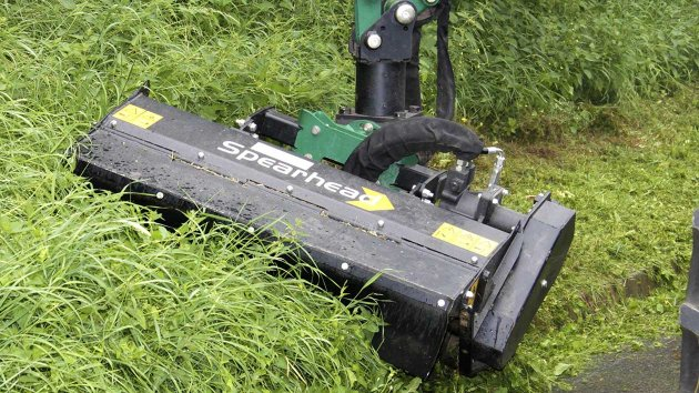 Flail mower for excavator