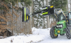 Front end loader attachment for windbreak maintenance
