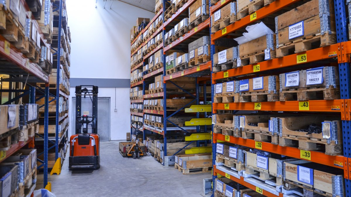 Our warehouse is stacked with spare parts for GreenTec and Spearhead machines
