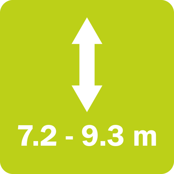 The Twiga Flex series has a vertical reach between 7.2 and 9.3 m