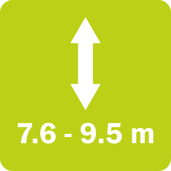 The Twiga Orbital series has a vertical reach of 7,6 to 9,5 m