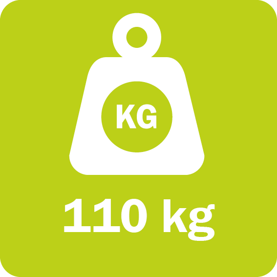 The Quadsaw LRS 1602 weighs 110 kg (243 lb)
