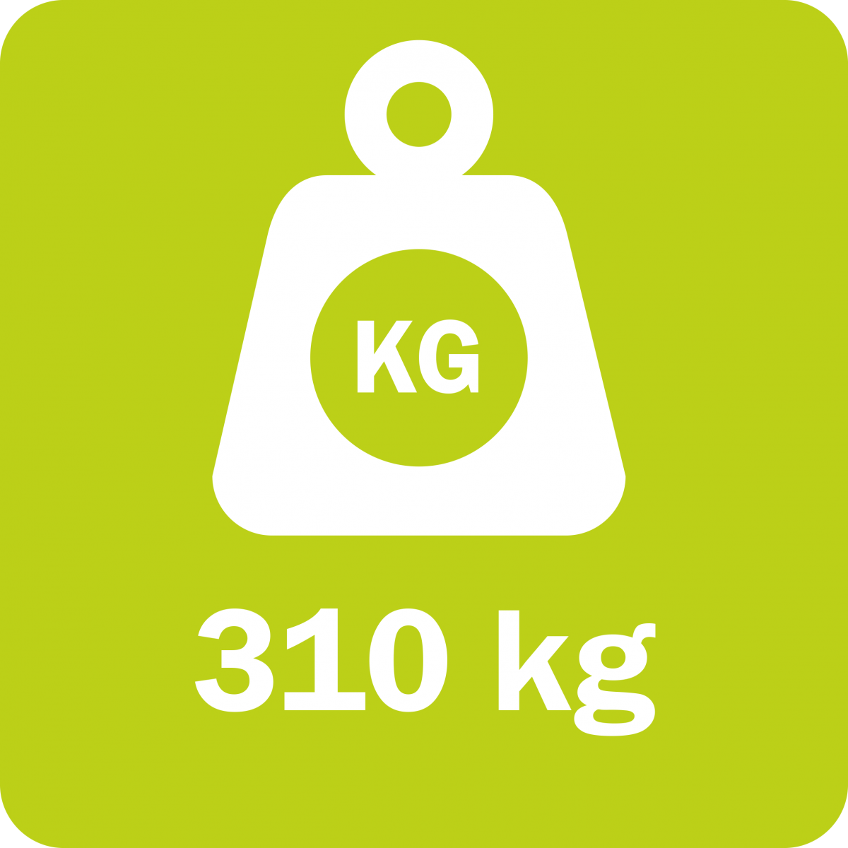The Rotary Mulcher RM 232 weighs 250 kg (683 lb)
