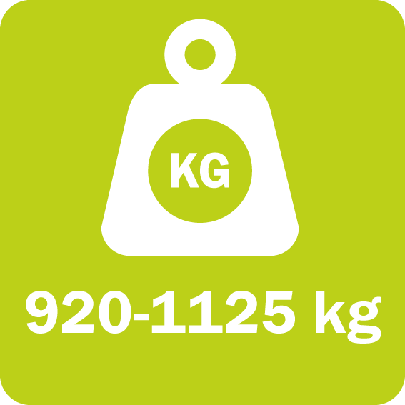 The FF/FL series weighs from 920 to 1125 kg