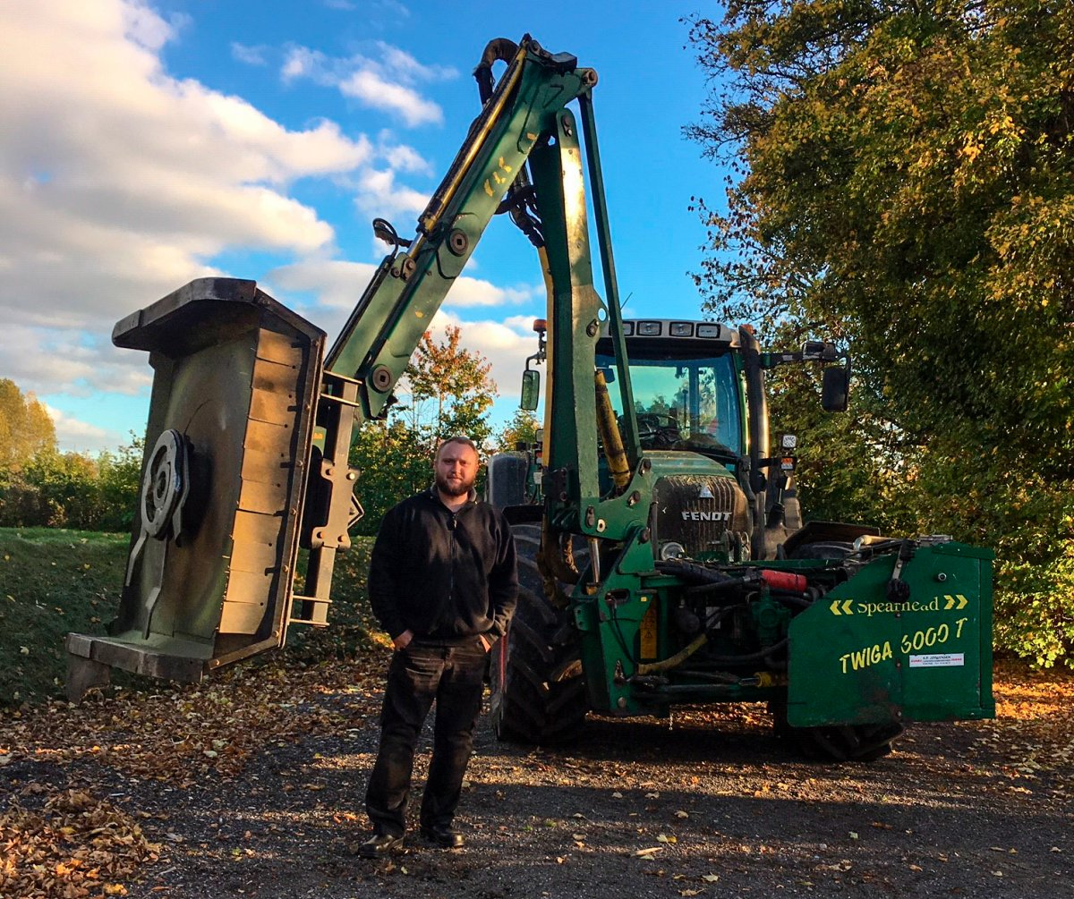 Michael Boldt Hansen and his GreenTec Rotary Crusher GT 135