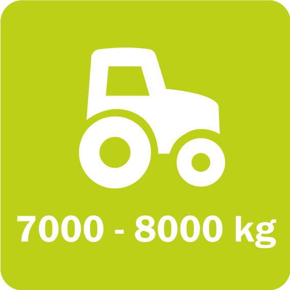 Scorpion 730 and 830 require a minimum vehicle weight of 7000 and 8000 kg, respectively
